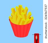 vector french fries   fast food ... | Shutterstock .eps vector #326567537