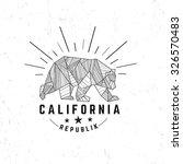 california republic vintage...   Shutterstock .eps vector #326570483