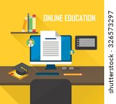 online education flat design... | Shutterstock .eps vector #326573297