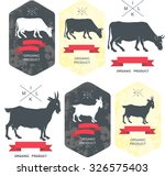 set of  labels  badges and... | Shutterstock .eps vector #326575403