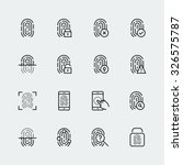 fingerprint icon set  thin line ... | Shutterstock .eps vector #326575787