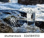 natural water in a glass | Shutterstock . vector #326584553