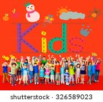 kids imagination handwriting... | Shutterstock . vector #326589023