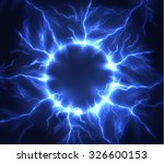 lightning vector round text... | Shutterstock .eps vector #326600153