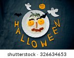 festive fried eggs in halloween ... | Shutterstock . vector #326634653