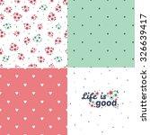 seamless pattern in vintage... | Shutterstock .eps vector #326639417