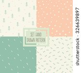 set of seamless patterns with... | Shutterstock .eps vector #326639897