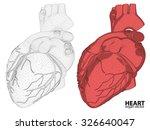 3d heart wireframe mesh...   Shutterstock .eps vector #326640047