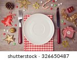christmas dinner background... | Shutterstock . vector #326650487