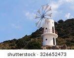 Crete White Building Windmill ...