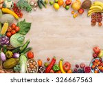 healthy eating background  ... | Shutterstock . vector #326667563