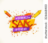 stylish sale poster  banner or... | Shutterstock .eps vector #326668403