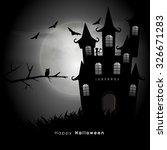 happy halloween party... | Shutterstock .eps vector #326671283