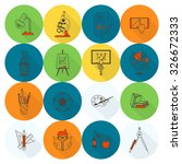 school and education icon set.... | Shutterstock . vector #326672333
