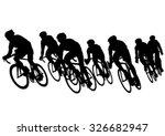 Sport Man Whit Bike On White...