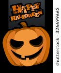 happy halloween card with scary ... | Shutterstock .eps vector #326699663
