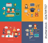 education design concept set... | Shutterstock .eps vector #326709707