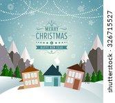 new year winter holidays... | Shutterstock . vector #326715527