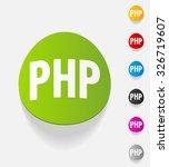 realistic design element. php | Shutterstock .eps vector #326719607