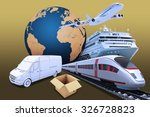 transport with earth globe and... | Shutterstock . vector #326728823