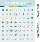 set of colorful flat icons... | Shutterstock .eps vector #326731583