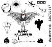 halloween design elements.... | Shutterstock .eps vector #326731967