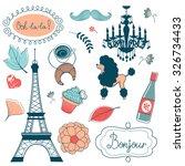 Elegant Set With Eiffel Tower...