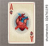 vintage playing card. ace of...