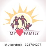 my family under the sun. | Shutterstock .eps vector #326764277