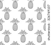 seamless pattern of the contour ... | Shutterstock .eps vector #326769107