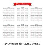 2016 2017 2018 2019 2020 2021... | Shutterstock .eps vector #326769563