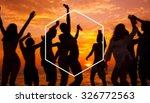 hexagon frame holiday summer... | Shutterstock . vector #326772563