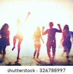 friendship freedom beach summer ... | Shutterstock . vector #326788997