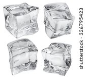 set of four opaque ice cubes in ... | Shutterstock . vector #326795423