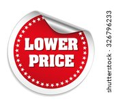 red lower price sticker with... | Shutterstock .eps vector #326796233