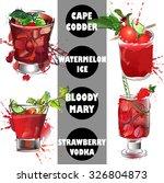 bar card cocktail  card ... | Shutterstock .eps vector #326804873