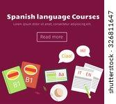 web banner for spanish language ...   Shutterstock .eps vector #326811647