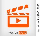 clapper board  icon. one of set ... | Shutterstock .eps vector #326812283