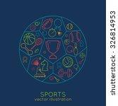 Icons Sports Line. Thin Line O...