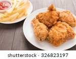 fried chicken and french fries... | Shutterstock . vector #326823197
