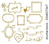 set of doodle frames and... | Shutterstock . vector #326827367