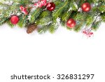 christmas tree branch with snow ... | Shutterstock . vector #326831297