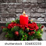 Christmas Table Decoration Wit...