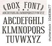 stencil plate serif font.... | Shutterstock .eps vector #326838677
