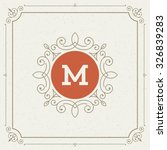luxury logo template flourishes ...   Shutterstock .eps vector #326839283
