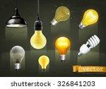 light bulbs  set of vector icons | Shutterstock .eps vector #326841203