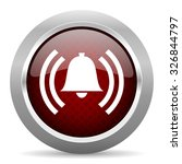 alarm red glossy web icon | Shutterstock . vector #326844797