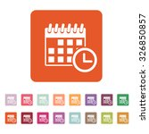 the calendar icon. reminder and ...   Shutterstock .eps vector #326850857