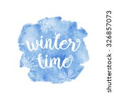 Winter Time Typographic Poster...