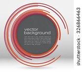 techno vector circle abstract... | Shutterstock .eps vector #326866463